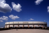 Exterior general view of the home of the New York Islanders in July 2001 at the Nassau Coliseum in Uniondale New York