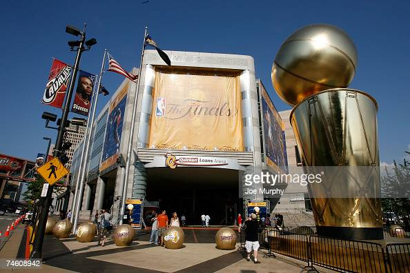 AN exterior genral view of the arena prior to Game Four of the NBA Finals between the Cleveland Cavaliers and the San Antonio Spurs at the Quicken...