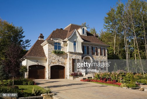 Exterior of a large house : Stock Photo