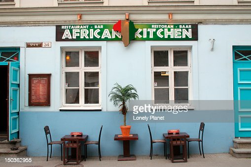 Exterior of african kitchen stock photo getty images for African kitchen gallery