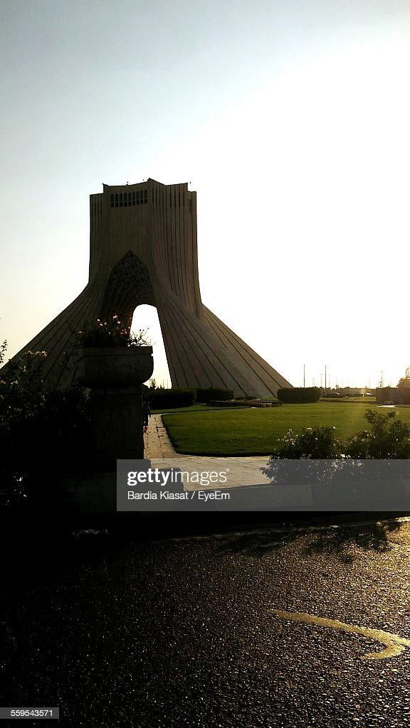 Exterior Of Azadi Tower Against Clear Sky