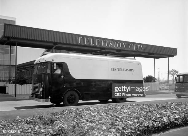 Exterior of CBS television mobile unit at CBS Television City Hollywood CA Image dated June 20 1958