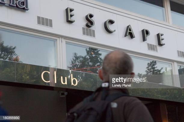 Exterior of Escape nightclub.