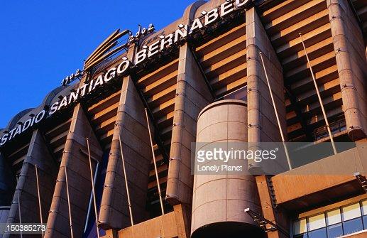 Exterior of Estadio Santiago Bernabeu, Real Madrid football club's stadium, El Viso. : Stock Photo