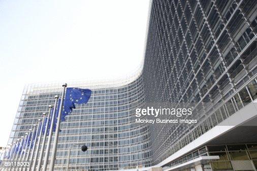 Exterior Of European Commission Building : Stock Photo