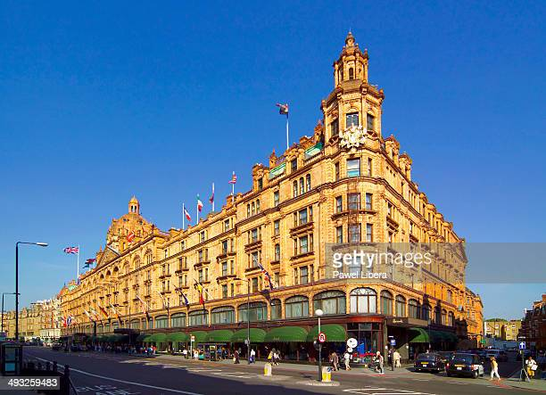Exterior of Harrods Department Store at Knightsbridge in London