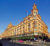 Exterior of Harrods Department Store, Knightsbridge, London, London