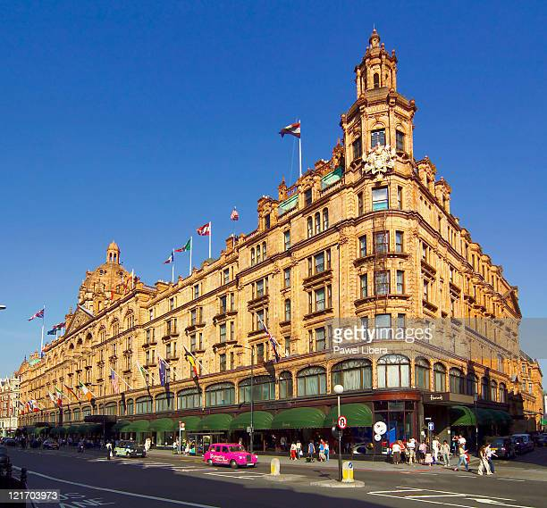 Exterior of Harrods Department Store, Knightsbridge, London, London