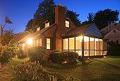 Exterior of house and Lawn at dusk-Arlington, VA