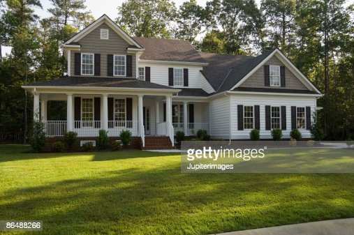 Picture Of House residential house exterior stock photo | getty images