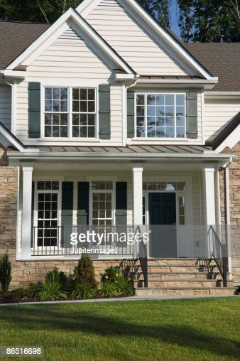 Pictures Of House exterior of house in suburbs stock photo | getty images