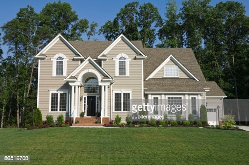 Picture Of House exterior of house in suburbs stock photo | getty images