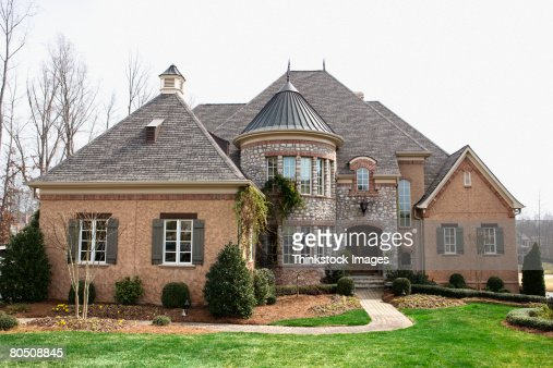 Exterior Of Luxury Home Stock Photo Getty Images