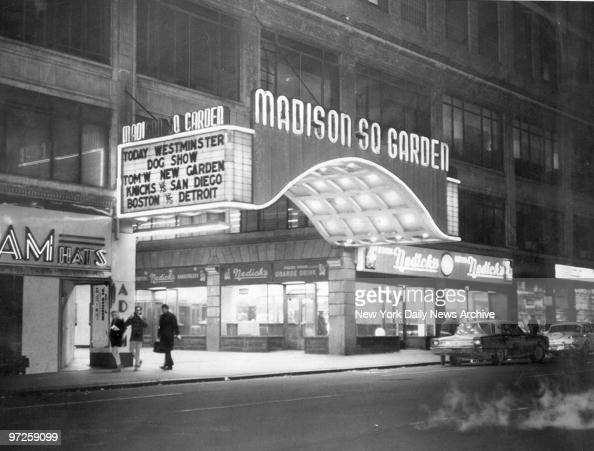 Exterior of Madison Square Garden at 49th St 8th Ave Westminster Dog Show was the last event there 2/13/68