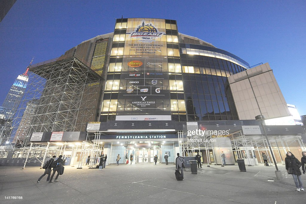 Exterior of Madison Square Garden before the finals between the Louisville Cardinals and the Cincinnati Bearcats at the 2012 Big East Men's...