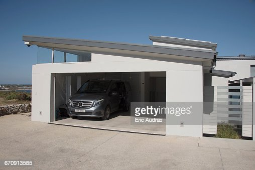 Exterior Garage exterior of modern twocar garage stock photo | getty images