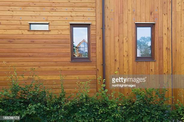 Exterior of modern eco-home