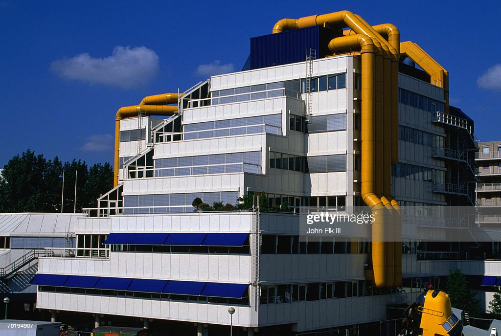 Exterior of modern office building, Rotterdam, South Holland, Netherlands, Europe : Stock Photo