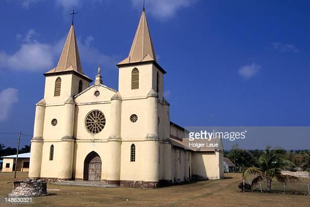 Exterior of Nathalo Catholic Church.