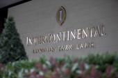 Exterior of Park Lane's InterContinental hotel