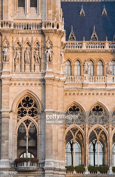 Exterior of Rathaus or new town hall, Vienna, Austria