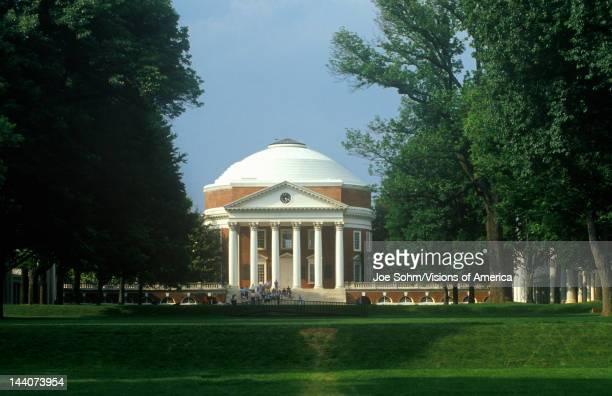 Exterior of Rotunda at University of Virginia designed by Thomas Jefferson Charlottesville VA