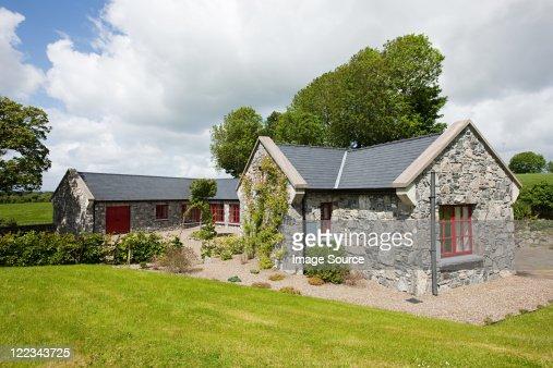 Exterior of rural Irish cottage