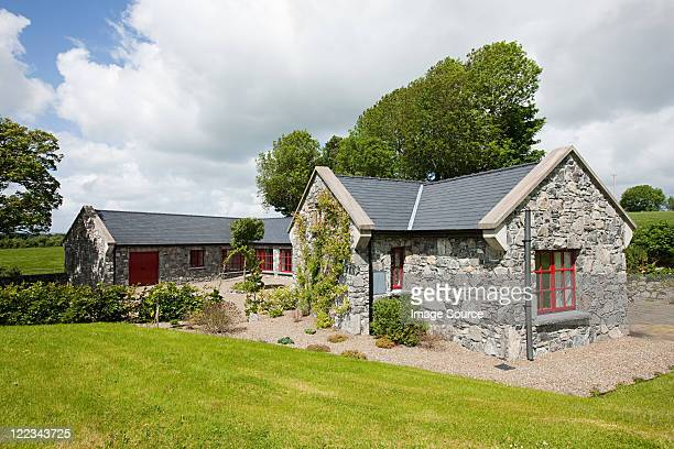 Exterior of rural Irish cottage