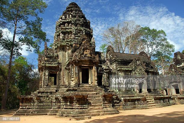 Exterior Of Temple At Angkor Wat Against Sky