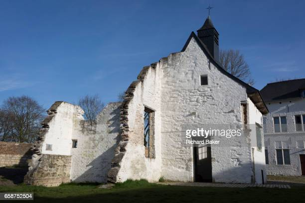 Exterior of the Chapel at the strategicallyimportant Hougoumont Farm during the Battle of Waterloo on 25th March 2017 at Waterloo Belgium The farm...