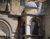 Exterior of the Chapel of the Crusaders Basilica of the Holy Sepulchre or the Church of the Resurrection Old City of Jerusalem Israel