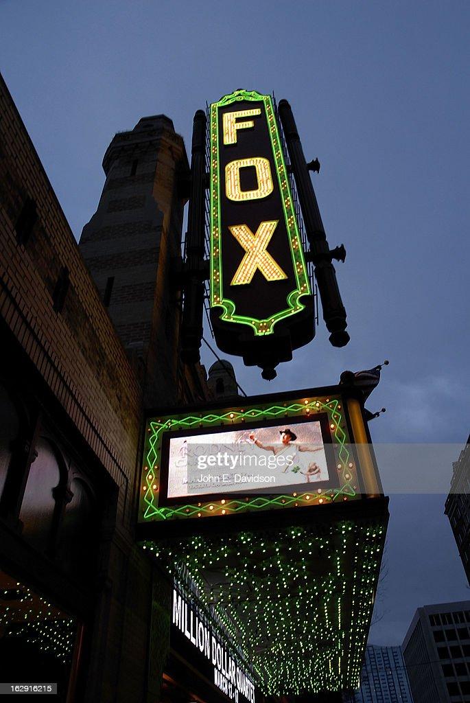 Exterior of The Fox Theatre on the opening night of 'Fela!' on February 28, 2013 in Atlanta, Georgia.