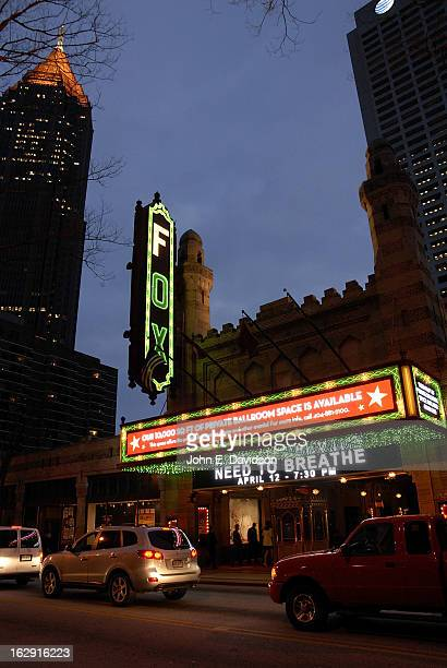Exterior of The Fox Theatre on the opening night of 'Fela' on February 28 2013 in Atlanta Georgia