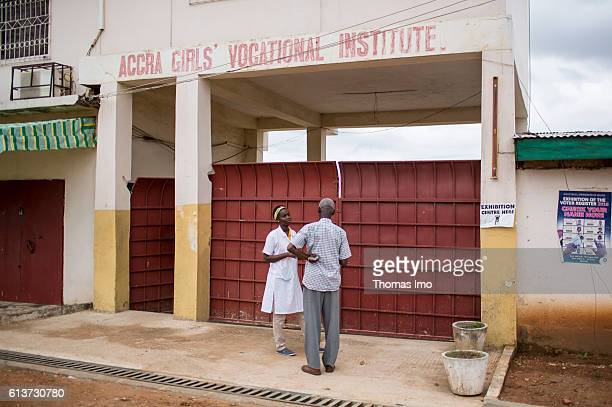 Exterior of the Girls Vocational Training Institute a vocational school for girls on September 08 2016 in Accra Ghana
