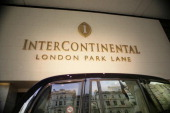 Exterior of the Intercontinental Hotel on Park Lane London