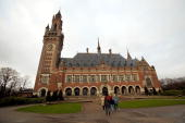 Exterior of the International Court of Justice December 16 2003 in The Hague Netherlands A dispute is being dealt with between Mexico and the United...