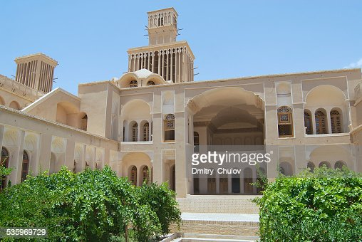 Exterior of the Lari house in Yazd, Iran. : Stock Photo