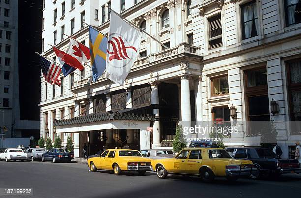 Exterior of the Plaza Hotel in New York City is photographed June 11 1987
