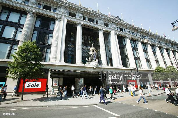 Exterior of the Selfridges store on Oxford Street London