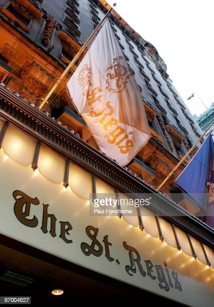 Exterior of the St Regis as seen prior to the start of the Academy of Motion Picture Arts Sciences New York Oscar Night Celebration at The St Regis...