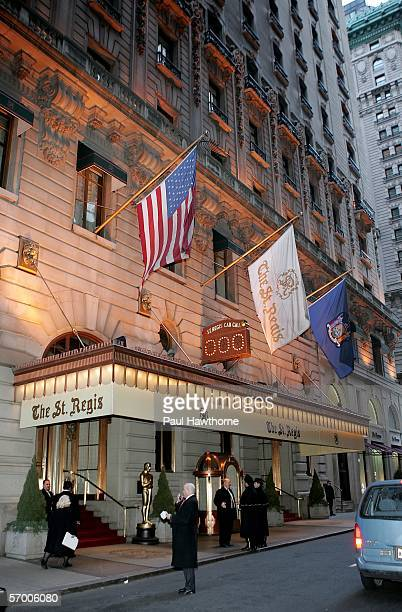 Exterior of the St Regis prior to the start of the Academy of Motion Picture Arts Sciences New York Oscar Night Celebration at The St Regis Hotel...
