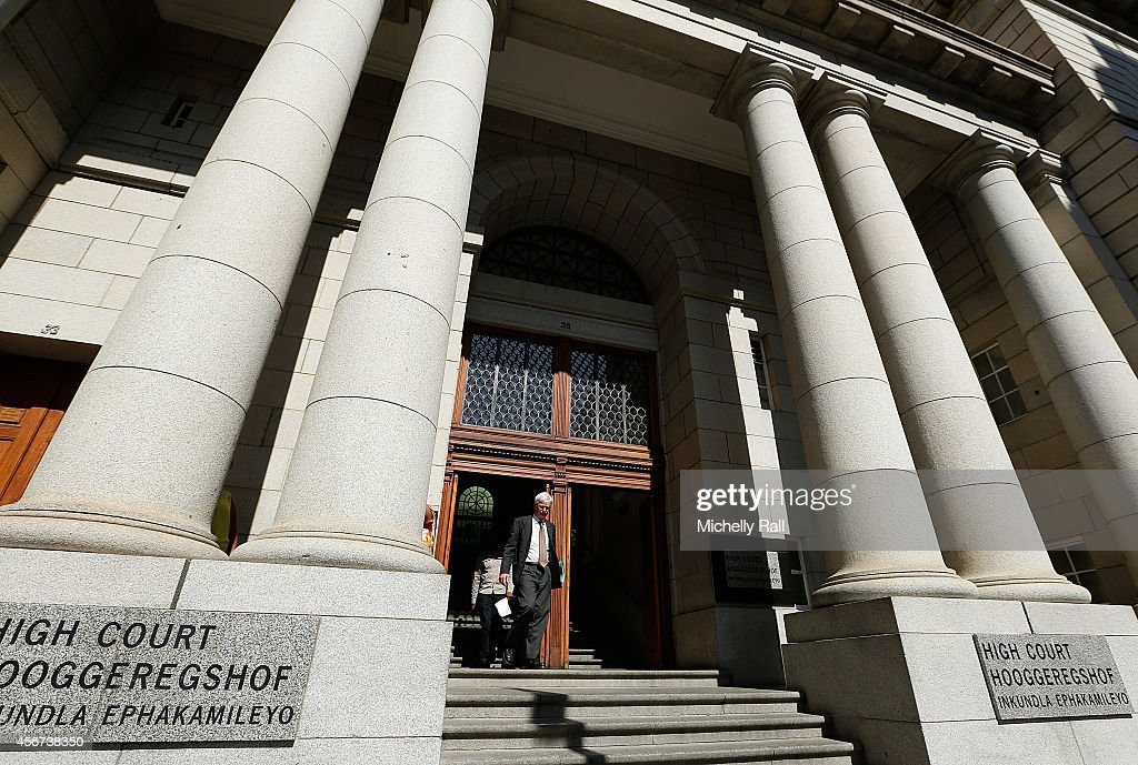 Exterior of the Western Cape High Court on October 6 2014 in Cape Town South Africa British businessman Shrien Dewani who fought an extradition...