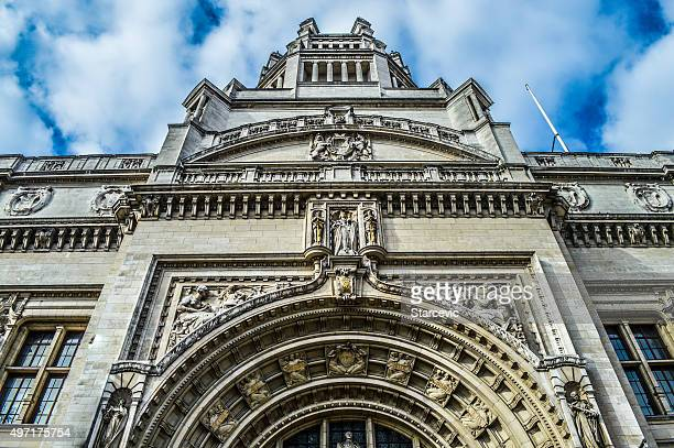 Exterior of Victoria and Albert Museum - London, UK
