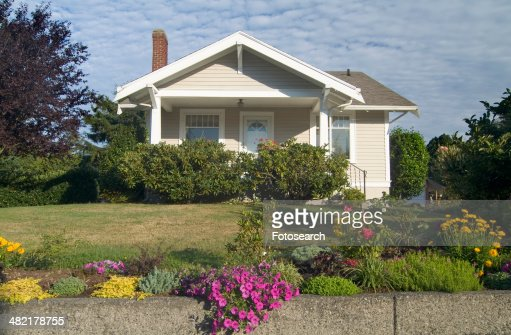 Exterior one story house in Bellingham Washington