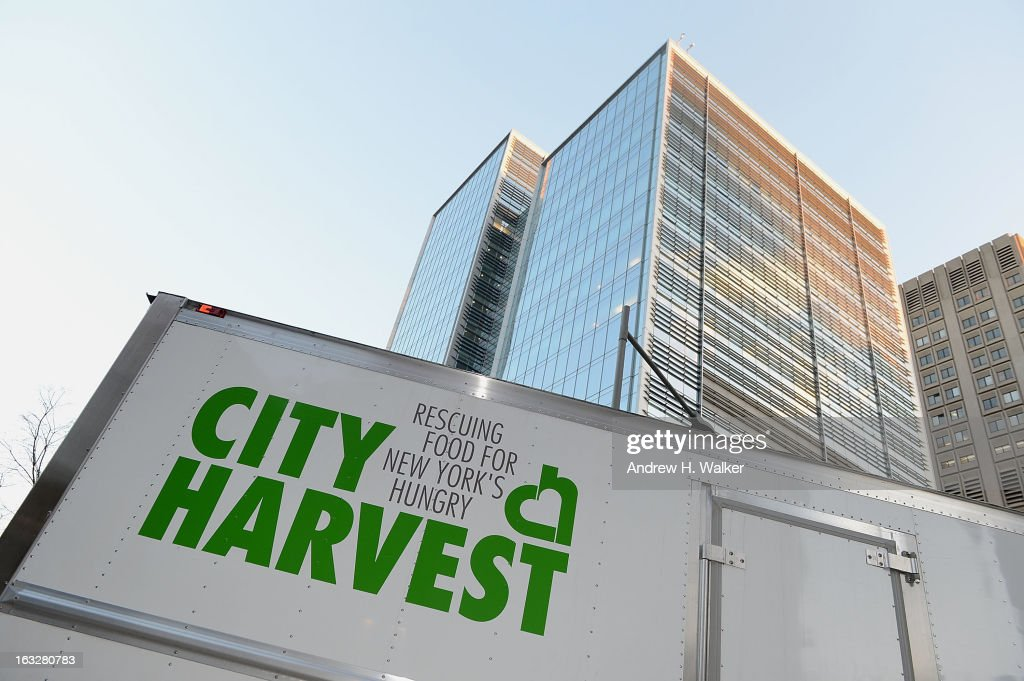 Exterior overview of a City Harvest truck at the City Harvest: A Mid-Winter Escape on March 5, 2013 in New York City.