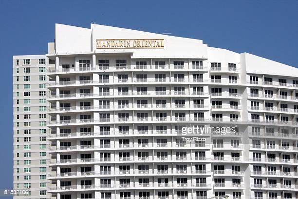 Exterior shots of the Mandarin Oriental hotel in Brickell Key on April 28 2008 in Miami Florida