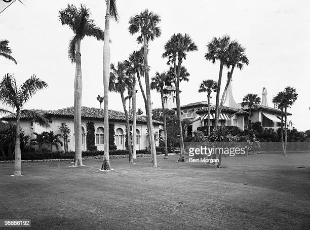 Exterior side view of MaraLago Palm Beach Florida mid 1950s The residence designed by Marion Sims Wyeth and Joseph Urban was the home of heiress...