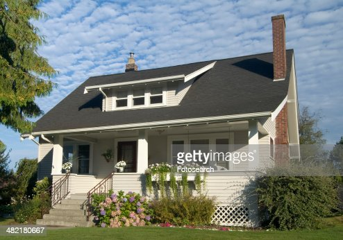 Exterior two story brown house in Bellingham Washington