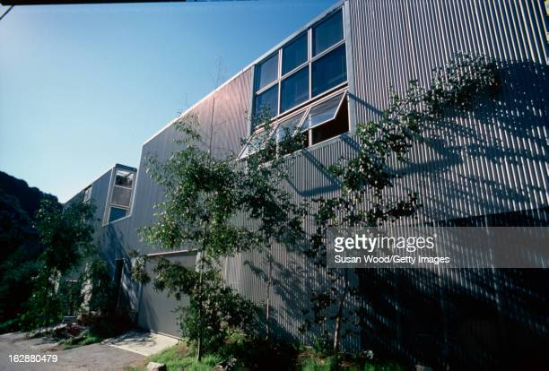 Exterior view of a beachfront home beloning to televison actor Larry Hagman Malibu California January 1980