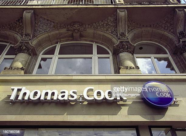 Exterior view of a Thomas Cook travel agency in Frankfurt